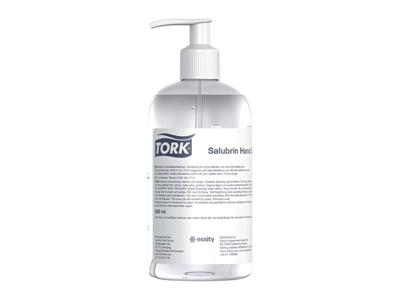Hånddesinfektion Tork Salubrin 70% gel 0,5 liter 8 stk.