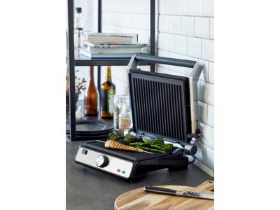 Nordic Sense Kontaktgrill 2000 watt i stål med aftagelige pl