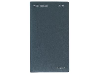 Week Planner, uge, højformat, mappe i mørk grå vinyl, FSC Mi