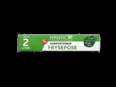 Maistic frysepose 2 liter 30 stk. komposterbar
