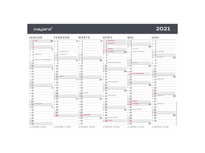 A4 kontorkalender, moderne, FSC Mix