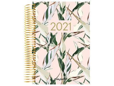 Spiralkalender, 1-dag, soft touch, blad, trend 21210050