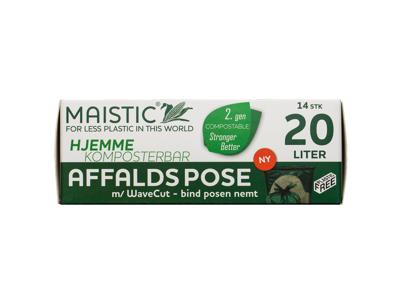 Maistic affaldspose 20 liter 50x44cm 14 stk. WaveCut kompost
