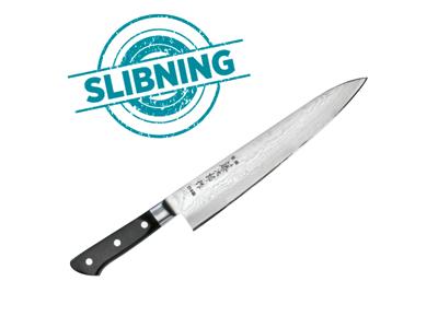 Håndkniv slebet over 21cm.