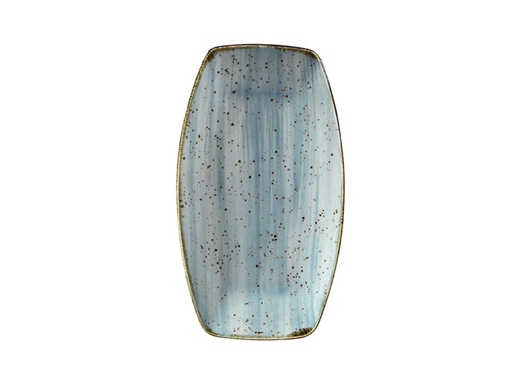 Tallerken rekt 19x11,4 cm Corendon blå