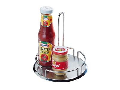 Bordstativ til olie/eddike flasker stål