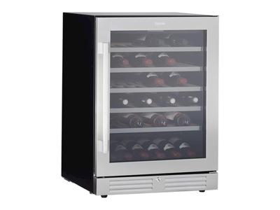 Vinkøleskab sølv 136 ltr 1 dør +5/+20