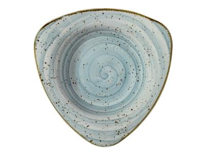 Tallerken trekant 20 cm Corendon blå