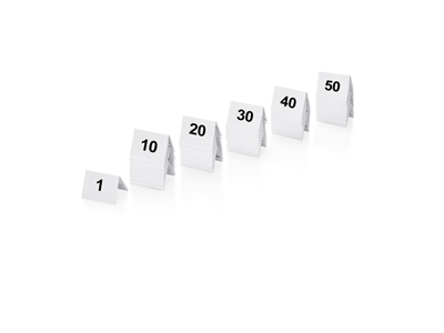 Bordnumre sæt nr. 1-50