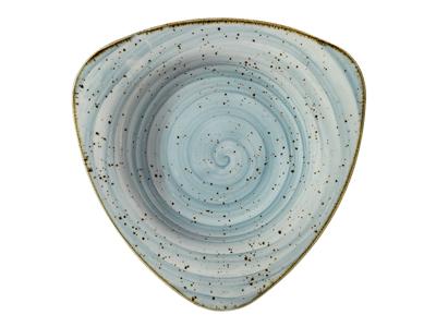 Tallerken trekant 25 cm Corendon blå