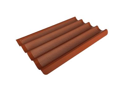 Fluteplade 40x60 m/silikone Perforeret