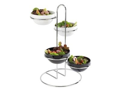 Serverings-stander Ø35 cm metal 4-ringe