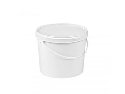 Spand m. låg 5,8 L Hvid plast  -20+85C