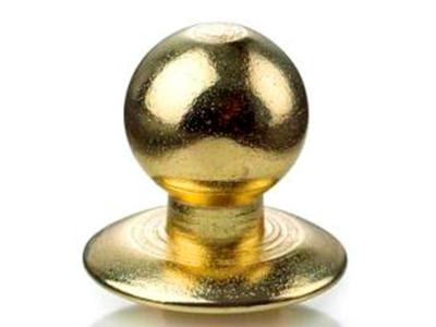 Kokkeknap Ægte guld 24K på stål