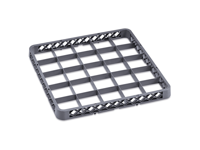 Opvaskebakke forhøjer 25 glas grå