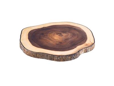 Serveringsbræt træ 26x24 cm