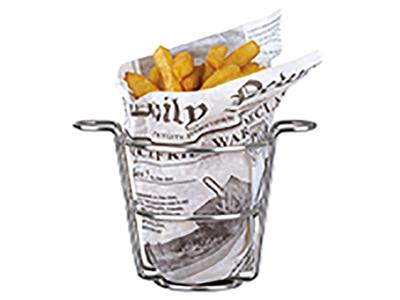 Pommes frites kurv m 2 håndtag RF Ø90