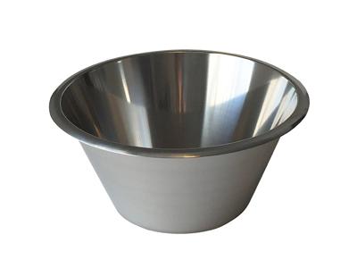 Konisk rustfri skål 14 Litr.