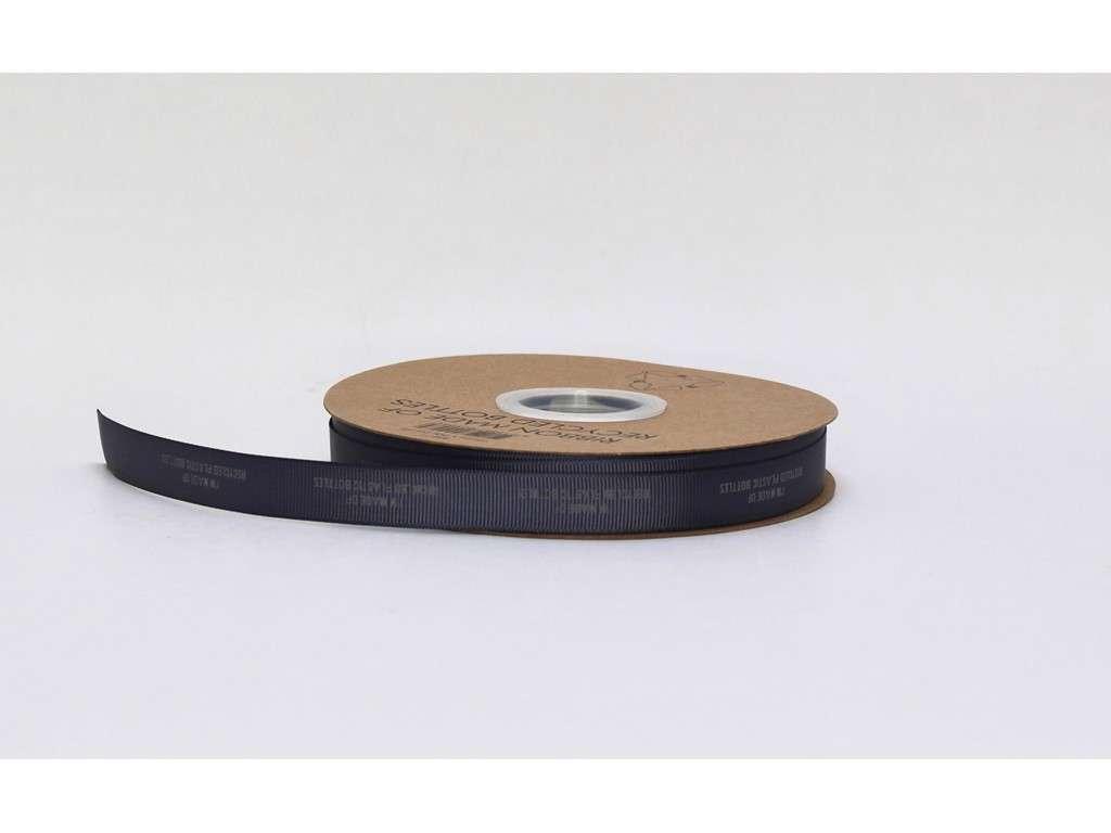 Genbrugsbånd rillet 16mm grå