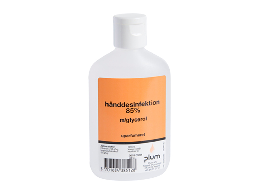Håndsprit 120ml. 85%m/glycerol