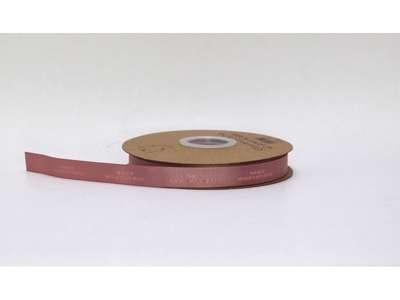 Genbrugsbånd rillet 16mm gammelrosa