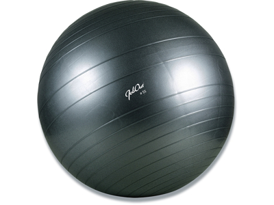 Balancebold, Sort, Ø 55 cm, PVC, JobOut