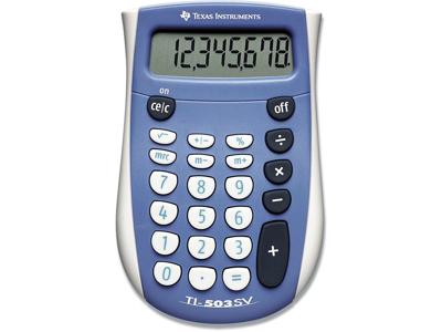 Regnemaskine, Standard, 8 cifre, Blå, Texas Instruments TI-503SV