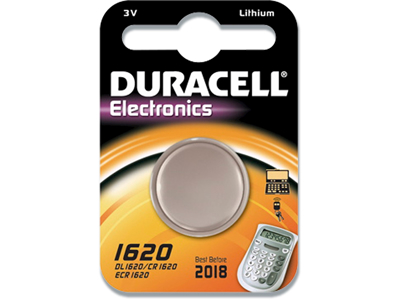 Batteri, Ikke genopladelig, 3 V, 75 mAh, Duracell Electronics 1620
