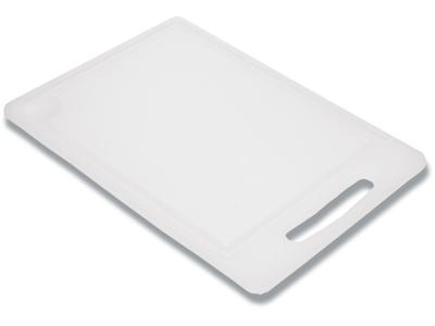 Skærebræt m/saftrille 36x25x0,8cm  hvid nylon plast