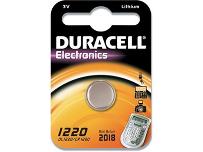 Batteri, Ikke genopladelig, 3 V, Lithium, Duracell Electronics 1220