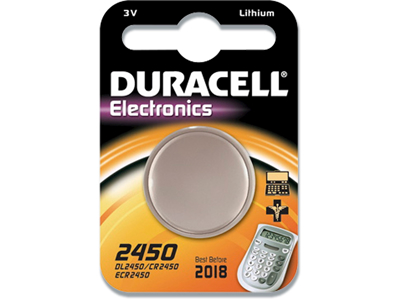 Batteri, Ikke genopladelig, 3 V, 285 mAh, Duracell Electronics 2430