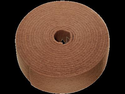 Tyrolit Vlies i rulle 100 mm×10 mtr A X-cut gulbrun