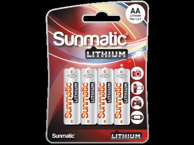 GP Lithium-batteri AA/FR6 1,5V, 4 stk