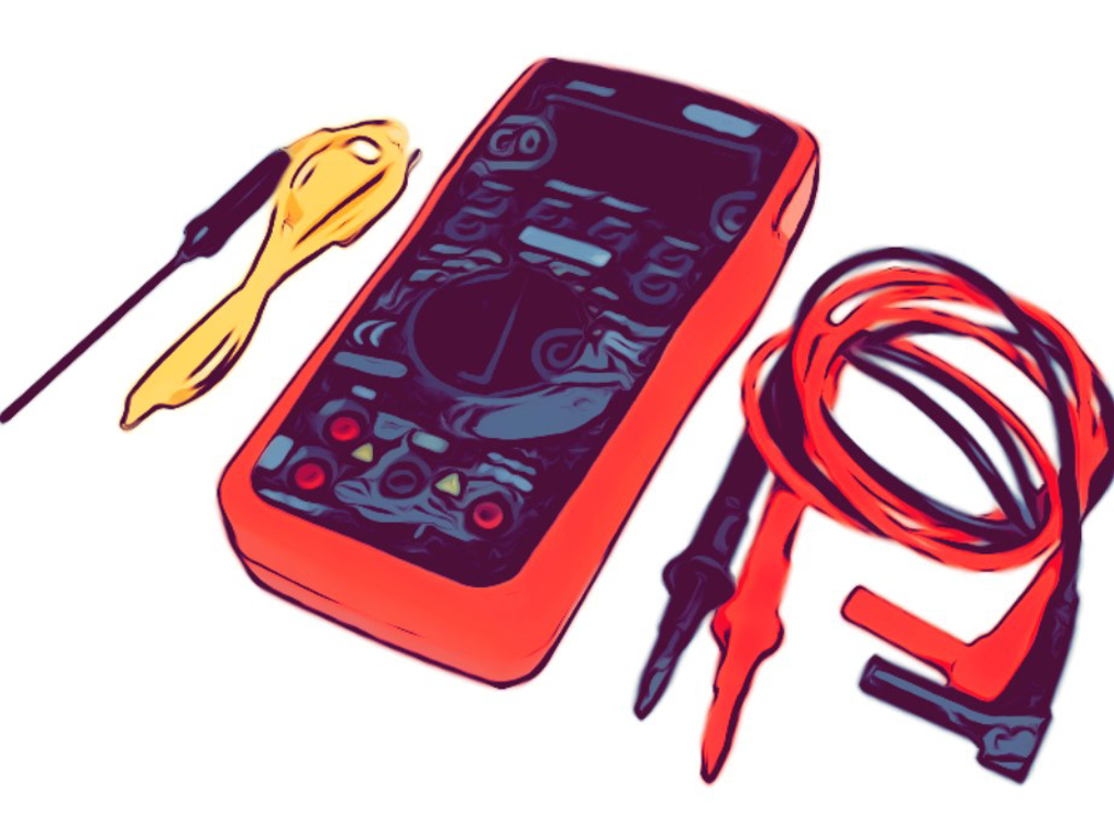 Multimeter/batteritester