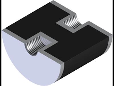 VIBRATIONSDÆMPER 15-15-3 M4 L1 = 5 mm