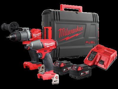 Milwaukee Powerpack 2 maskiner+2 batterier M18 FFP2C2-502X