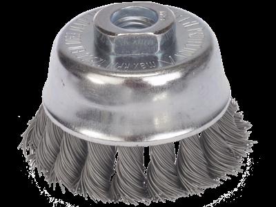 Kopbørste snoet M14 ø65 stål 0,50