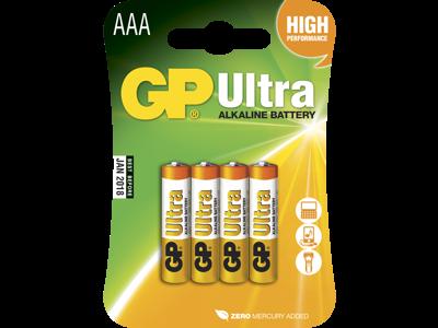 GP Batteri 24AU LR03/AAA 1,5V 4 stk