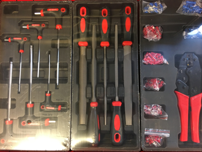Værktøjsvogn med 196 dele værktøj