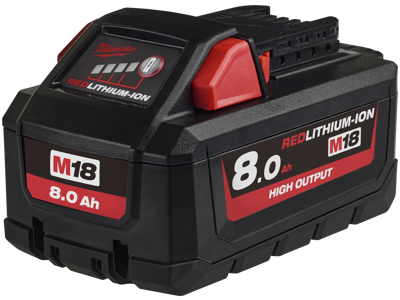 Milwaukee Batteri 18V/8,0Ah High Output Li-ion M18 HB8