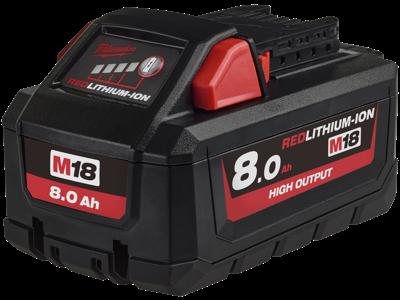 Milwaukee Batteri 18V/8,0Ah High Output Li-ion M18 HB8