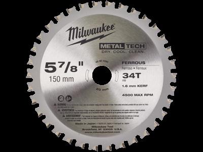 Milwaukee Rundsavklinge t/metal 150×20mm 34td