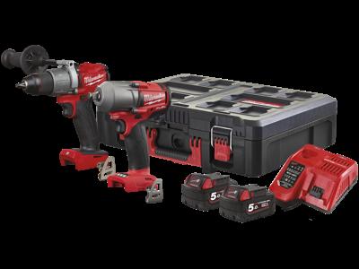 Milwaukee PowerPack 2 maskiner+2 batterier M18 FPP2E2-502P