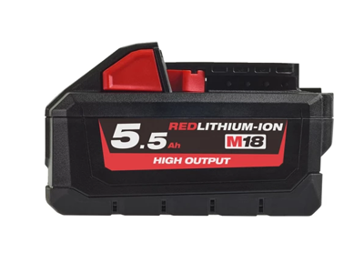 Milwaukee Batteri 18V/5,5Ah High Output Li-ion M18 HB5.5