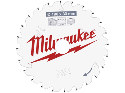 Milwaukee Rundsavklinge PW 190×30×1,6mm 24ATB