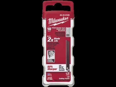 Milwaukee Knæk-af blad t/hobbykniv 9mm pk/10