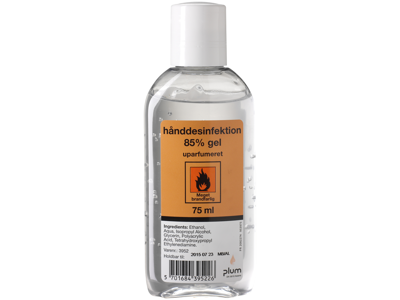 Plum Hånddesinfektion 85% gel, lommeflaske 75 ml