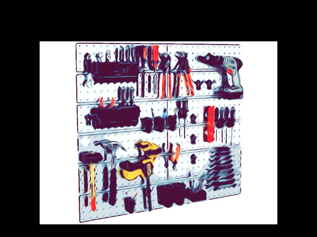 Værktøjspanel og kroge