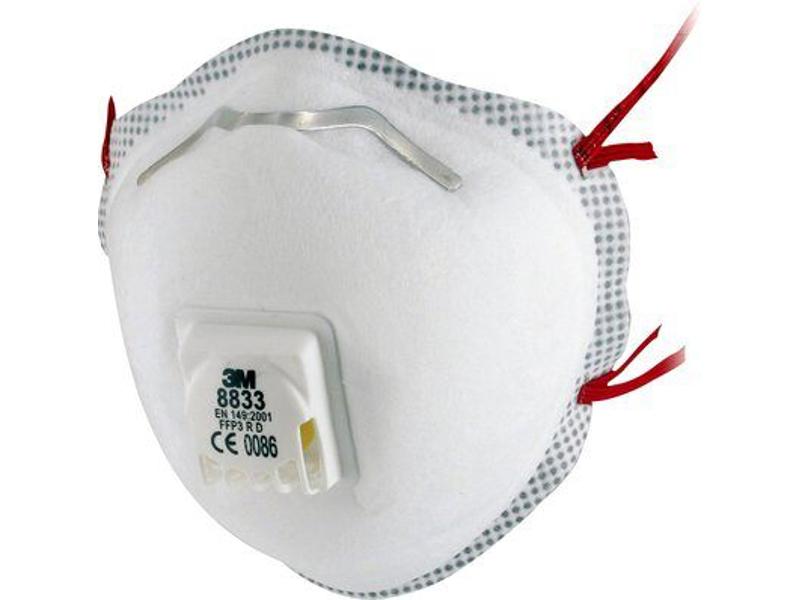 3M Støvmaske 8833A FFP3 med ventil