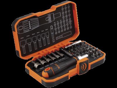 Bahco Skralde-skruetrækkersæt m/bits & boltbits